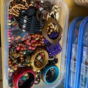 Wooden jewelry lot